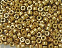 Gold Czech Glass 9mm Pony Beads 100pc  czech,Czechoslovakian,glass,crow,beads,9mm,pony