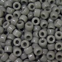 Gray Dark Czech Glass 9mm Pony Beads 100pc czech,Czechoslovakian,glass,crow,beads,9mm,pony