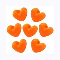 Neon Orange Heart Shaped Pony Beads crafts,hearts,beads