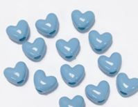 Opaque Baby Blue Heart Shaped Pony Beads crafts,hearts,beads