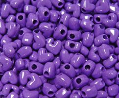 Opaque Grape Heart Shaped Pony Beads crafts,hearts,beads