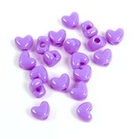 Opaque Lilac Heart Shaped Pony Beads crafts,hearts,beads