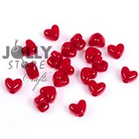 Opaque Red Heart Shaped Pony Beads crafts,hearts,beads
