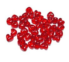 Transparent Light Ruby Red Heart Shaped Pony Beads crafts,hearts,beads