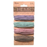 Hemp Cord Set - Assorted Vintage Colors 20lb  120ft hemp,cord,twine,strings,crafts,beading