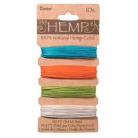 Hemp Cord Set - Bright Colors 20lb  120ft hemp,cord,twine,strings,crafts,beading
