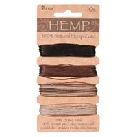 Hemp Cord Set - Earthy Colors 10lb  170ft hemp,cord,twine,strings,crafts,beading