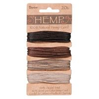 Hemp Cord Set - Earthy Colors 20lb  120ft hemp,cord,twine,strings,crafts,beading