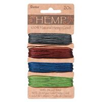 Hemp Cord Set - Earthy Dark Colors 20lb  120ft hemp,cord,twine,strings,crafts,beading