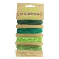 Hemp Cord Set - Emerald Colors 20lb  120ft hemp,cord,twine,strings,crafts,beading