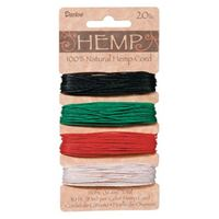 Hemp Cord Set - Pimary Colors 20lb  120ft hemp,cord,twine,strings,crafts,beading