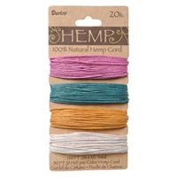 Hemp Cord Set - Spring Colors 20lb  120ft hemp,cord,twine,strings,crafts,beading