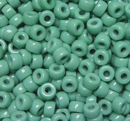 Light Turquoise Czech Glass 9mm Pony Beads 100pc czech,Czechoslovakian,glass,crow,beads,9mm,pony
