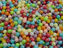 Multi Color AB 6mm Round Plastic Beads 1,000pc beads,crafts,plastic,acrylic,round,colors,beading,stores