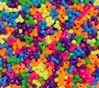 Neon Multi Colors Tri Beads 500pc
