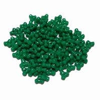 Opaque Green Tri Beads 500pc green,tri,beads,bead,craft