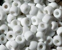Opaque White Czech Glass 9mm Pony Beads 100pc czech,Czechoslovakian,glass,crow,beads,9mm,pony