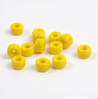 Opaque Yellow Czech Glass 9mm Pony Beads 100pc