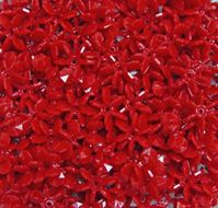 Red 18mm Starflake Sunburst Craft Beads 150pc starflake,sunburst,hobby,crafts,beads