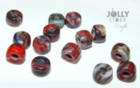 Red Marble Czech Glass 9mm Pony Beads 100pc czech,Czechoslovakian,glass,crow,beads,9mm,pony