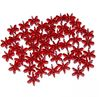 Ruby Dark 18mm Starflake Sunburst Craft Beads 150pc