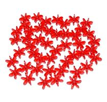 Ruby Light 18mm Starflake Sunburst Craft Beads 150pc starflake,sunburst,hobby,crafts,beads