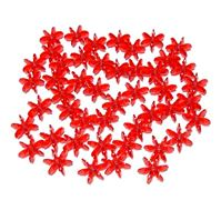 Ruby 18mm Starflake Sunburst Craft Beads 150pc starflake,sunburst,hobby,crafts,beads