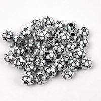 Soccer Ball Beads 12mm soccer,ball,beads,sports,jewelry