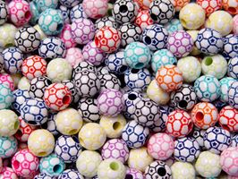 Soccer Ball Colorful Beads 12mm soccer,ball,beads,sports,jewelry