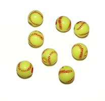 Softball Beads 12mm softball,beads,sports,jewelry