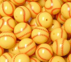 Softball Beads 20mm softball,beads,sports,jewelry