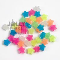 Stars Glow Multi  100pc crafts,stars,beads