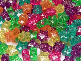 Stars Jelly Sparkle Mix 100pc crafts,stars,beads