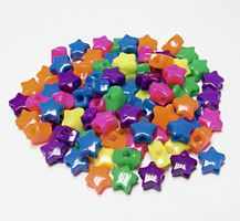 Stars Neon Multi colors 100pc crafts,stars,beads