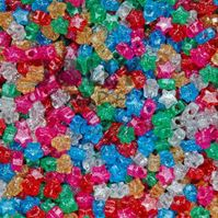Stars Sparkle Multi colors 100pc crafts,stars,beads