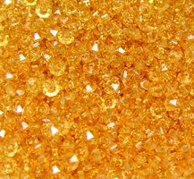 Sun Gold 6mm Rondelle faceted spacer beads 1000pc