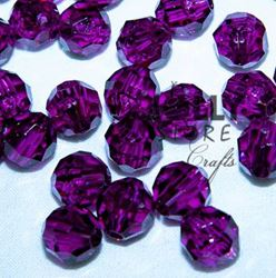 Transparent Amethyst Dark 8mm Faceted Round Beads facted,beads,crafts,plastic,acrylic,round,colors,beading,stores