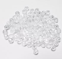 Transparent Crystal 4mm Faceted Round Beads facted,beads,crafts,plastic,acrylic,round,colors,beading,stores