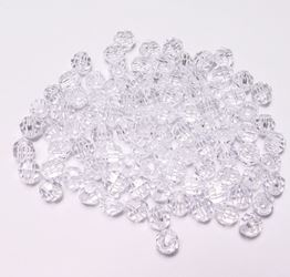 Transparent Crystal 8mm Faceted Round Beads facted,beads,crafts,plastic,acrylic,round,colors,beading,stores