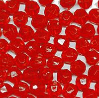 6mm Round Faceted Beads Fire Red color 500pc