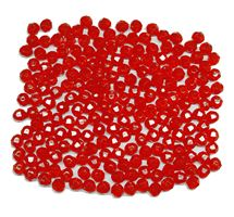 Transparent Fire Red 8mm Faceted Round Beads facted,beads,crafts,plastic,acrylic,round,colors,beading,stores