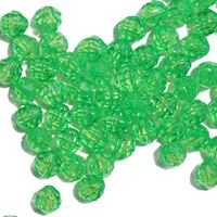 Transparent Lemon Lime 6mm Faceted Round Beads facted,beads,crafts,plastic,acrylic,round,colors,beading,stores