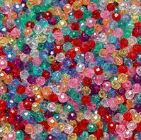 Transparent Multi Colors 4mm Faceted Round Beads facted,beads,crafts,plastic,acrylic,round,colors,beading,stores