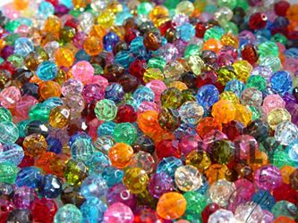 Transparent Multi Colors 6mm Faceted Round Beads facted,beads,crafts,plastic,acrylic,round,colors,beading,stores