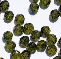 Transparent Olive 6mm Faceted Round Beads facted,beads,crafts,plastic,acrylic,round,colors,beading,stores