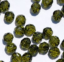 Transparent Olive 8mm Faceted Round Beads facted,beads,crafts,plastic,acrylic,round,colors,beading,stores