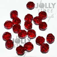 Transparent Ruby 8mm Faceted Round Beads facted,beads,crafts,plastic,acrylic,round,colors,beading,stores