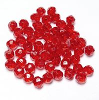 Transparent Ruby 6mm Faceted Round Beads facted,beads,crafts,plastic,acrylic,round,colors,beading,stores