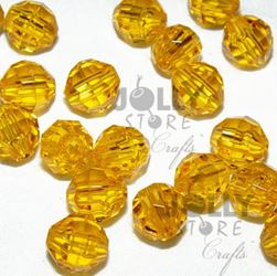 Transparent Sun Gold 8mm Faceted Round Beads facted,beads,crafts,plastic,acrylic,round,colors,beading,stores