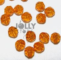 Transparent Topaz Light 8mm Faceted Round Beads facted,beads,crafts,plastic,acrylic,round,colors,beading,stores